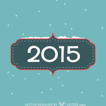 Simple Vintage 2015 Card Template - Free vector #164165