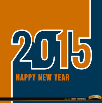 2015 Orange blue wallpaper - Free vector #164265