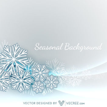 Xmas Background with Snowflakes on Curves - vector #164315 gratis
