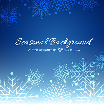 Beautiful Blue Xmas Background with Snowflakes - Free vector #164335