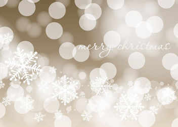 Shiny Christmas Background with Bokeh & Snowflakes - Free vector #164495
