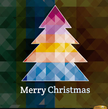 Christmas polygonal tree background - Free vector #164665