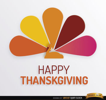 Thanksgiving turkey colorful tail background - Free vector #164775