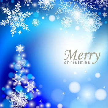 Elegant Blue Abstract Christmas Tree Background - vector gratuit #164815