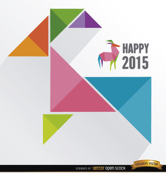 2015 colored triangles goat - vector gratuit #164845