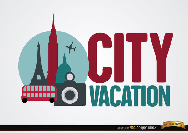 City vacation background - Free vector #164925