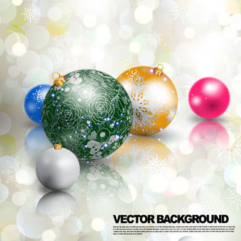 Multicolor 3D Christmas Ball on Bokeh Lights - Free vector #164935