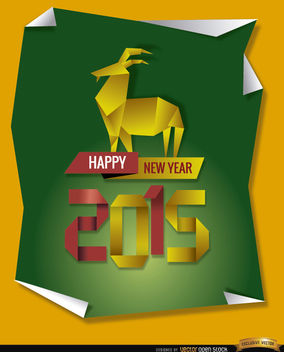 2015 Origami goat background - Free vector #164945