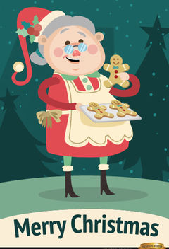 Grandmother cookies Christmas background - vector gratuit(e) #164955