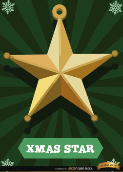 Christmas star card - Free vector #165065