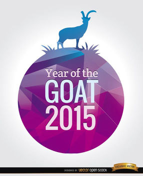 2015 Year of the goat background - vector gratuit #165155