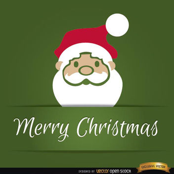 Santa Claus head Christmas card - Free vector #165185