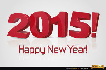 Happy New Year 2015 Wallpaper - Free vector #165455
