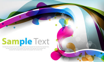 Colorful Abstract Splashed Curves Background - vector gratuit #165515