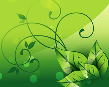 Elegant Floral Swirls Nature Background - Free vector #165535