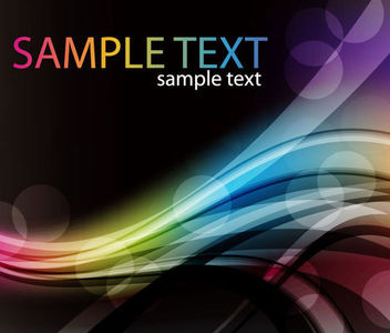 Colorful Abstract Waving Shade Bokeh Background - Free vector #165655