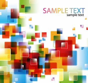 Fluorescent Colorful Glossy Squares Background - бесплатный vector #165665