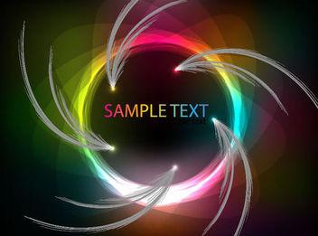 Rainbow Vortex Floral Background - vector gratuit(e) #165675