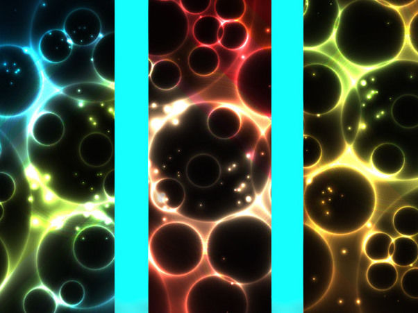 Glowing Abstract 3 Vertical Banners with Bubbles - бесплатный vector #165785
