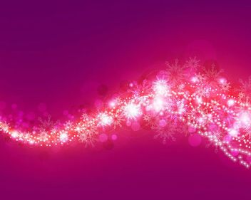 Pink & Purple Bokeh Background with Snowflakes - vector #165845 gratis