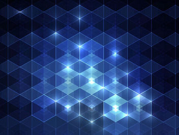 Glowing Blue Triangular Pattern Background - Kostenloses vector #165895