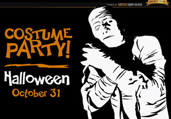 Halloween invitation promo Mummy - Free vector #165925