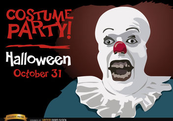 Halloween invitation party Pennywise clown - Free vector #165965