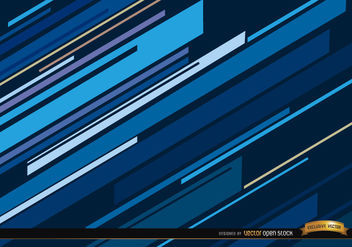 Abstract blue oblique lines background - vector gratuit #166065