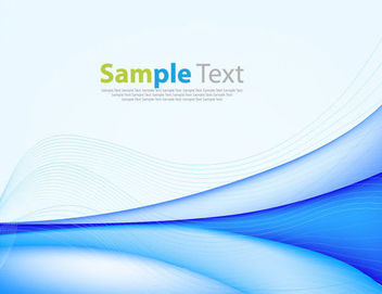 Creative Blue Curves & Spiral Lines Background - Free vector #166105