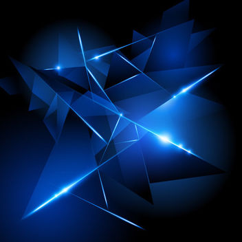 Creative 3D Glowing Triangles Background - vector #166335 gratis