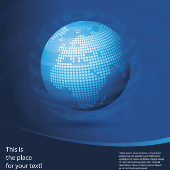 Blue Globe Business Background with Curve - Free vector #166365