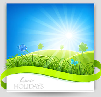 Summer Day Nature Background - бесплатный vector #166395