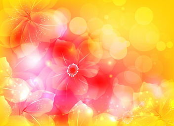 Full Blossom Bright Flower with Bokeh - Free vector #166595