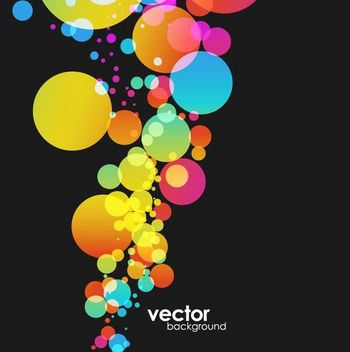 Colorful Bokeh Bubbles Background - бесплатный vector #166675