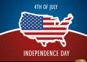 United States map flag July 4th - Kostenloses vector #166745