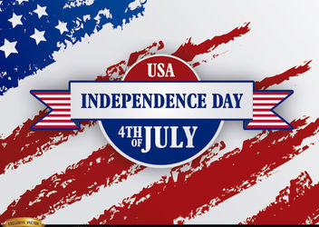Independence Day Ribbon grunge USA flag - Free vector #166765