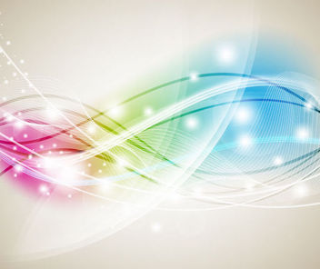 Glowing Colorful Background with Wavy Lines - vector gratuit #166935