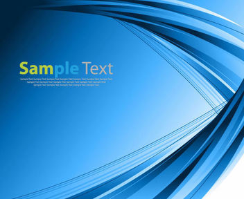 Blue Background with Abstract Curvy Lines - Free vector #166945