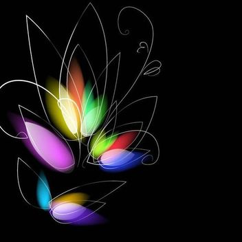 Colorful Dark Background with Blurry Flower - Free vector #167075