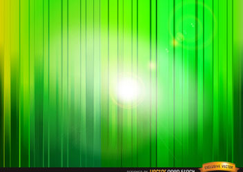 Shine through green vertical stripes background - vector gratuit #167105