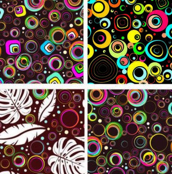 Colorful Seamless Circle Patterns - Free vector #167145