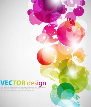 Fluorescent Colorful Bubbles on Grey Background - vector gratuit #167285
