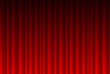 Realistic Red Curtain Background - vector gratuit(e) #167325