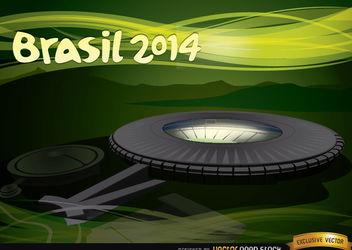 Maracana Stadium Brazil 2014 - бесплатный vector #167395