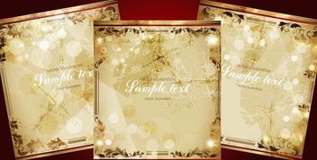 3 Vintage Grungy Floral Frames - Free vector #167485
