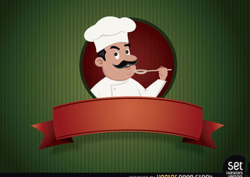 Restaurant logo With Chef - Free vector #167555