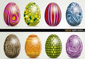 Beautiful Artistic Easter Eggs - Free vector #167595