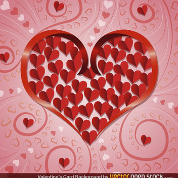 Valentine's Card Background - Kostenloses vector #167695