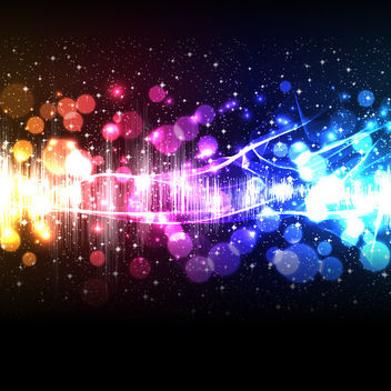 Colorful Glittery Lighting Background - vector #167825 gratis