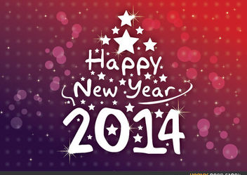 Happy New Year 2014 - vector #167945 gratis